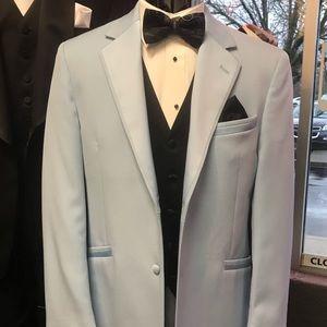 Retro Andrew Fezza Retro Lt. Blue Tuxedo Jacket